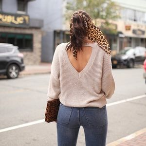 Size small beige sweater from express
